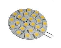LED žiarovka 24 x SMD 5050 G4 3W teplá biela