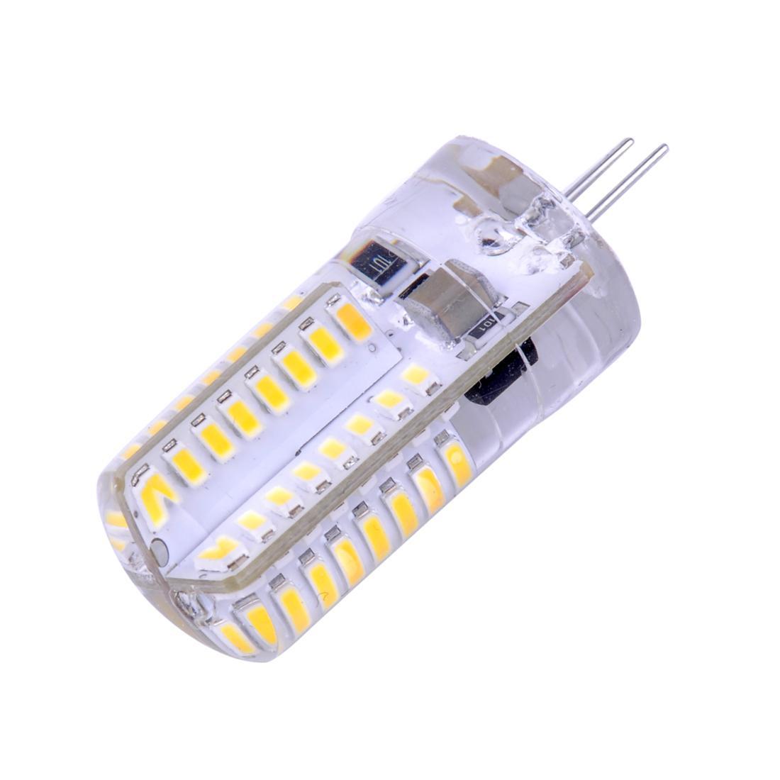 LED žiarovka 64 x SMD 3014 G4 4W studená biela 220V
