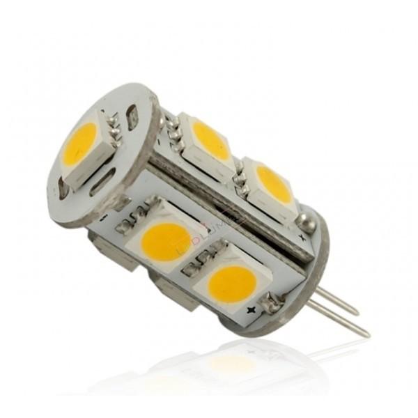 LED žiarovka 9 x SMD 5050 G4 1,5 W teplá biela