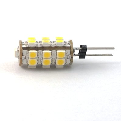 LED žiarovka 26 x SMD 3528 G4 2W teplá biela
