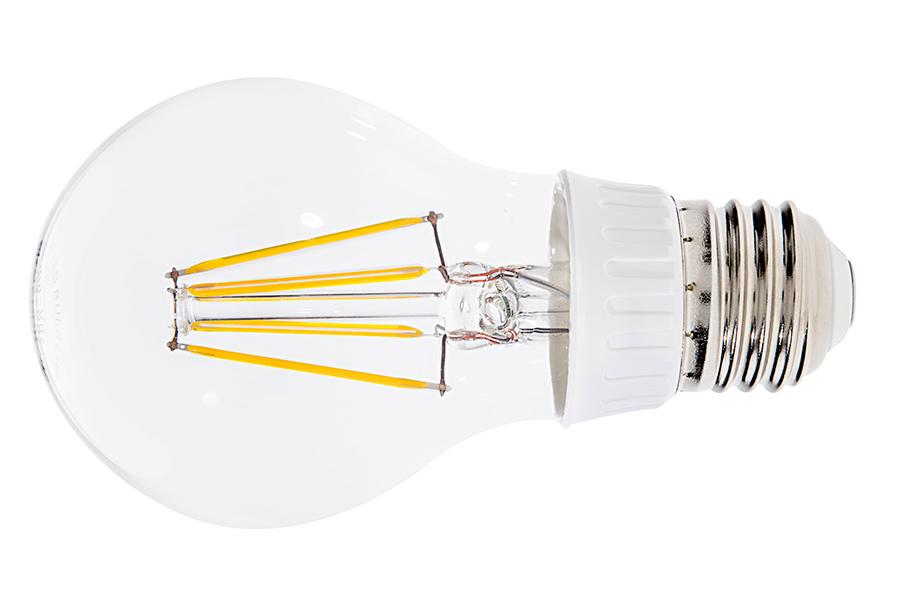 LED žiarovka filament E27 6W teplá biela