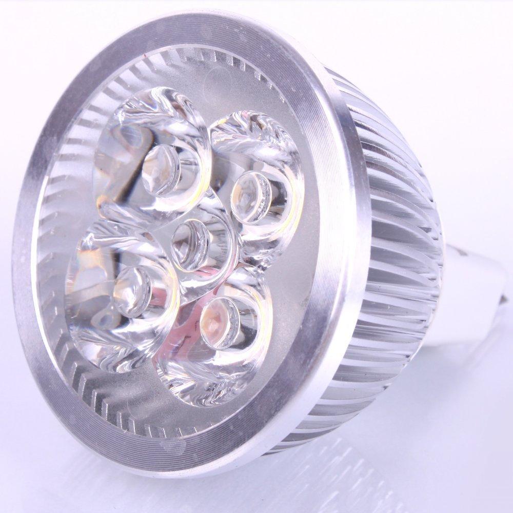 LED žiarovka 4 x LED MR16 4W studená biela 230V