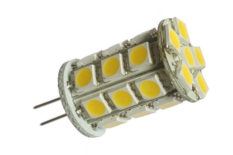 LED žiarovka 27 x SMD 5050 G4 4w studená biela