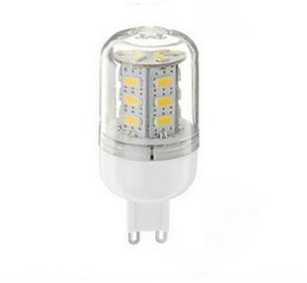 LED žiarovka 24 x SMD 5730 G9 4,5W teplá biela