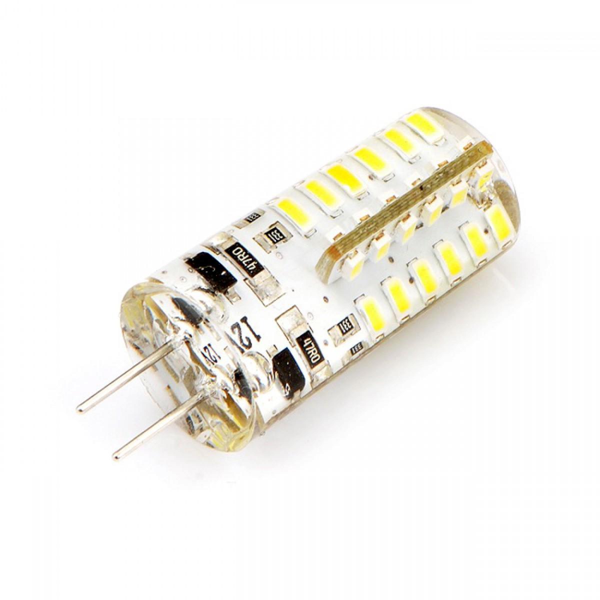LED žiarovka 48 x SMD 3014 G4 3W teplá biela