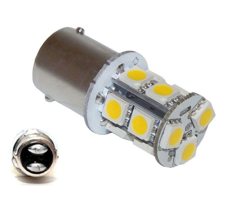 051073c3c LED AUTO ŽIAROVKA P21W BAY15D 13 SMD 5050 5W dvojvláknová