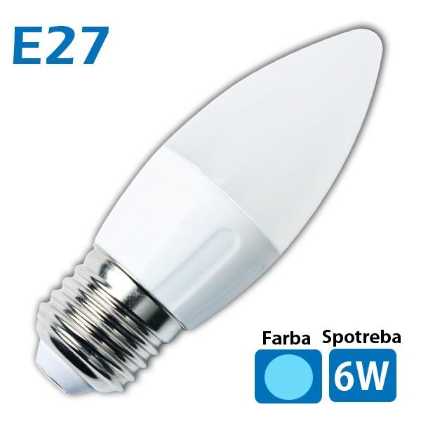 LED žiarovka 14x SMD 2835 E27 6W studená