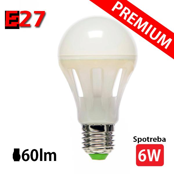LED žiarovka MCOB 6W E27