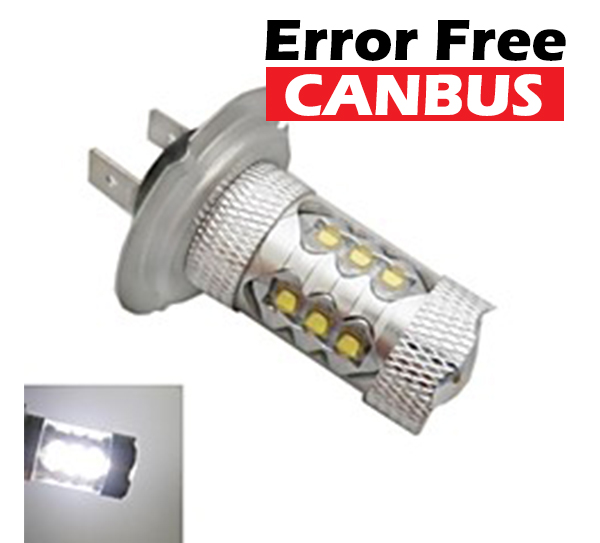 LED auto žiarovka H4, 15 CREE LED 12V