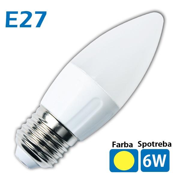 LED žiarovka 14x SMD 2835 E27 6W teplá