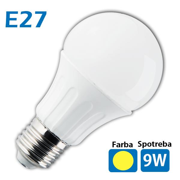 LED žiarovka 18 x SMD 5630 E27 9W teplá