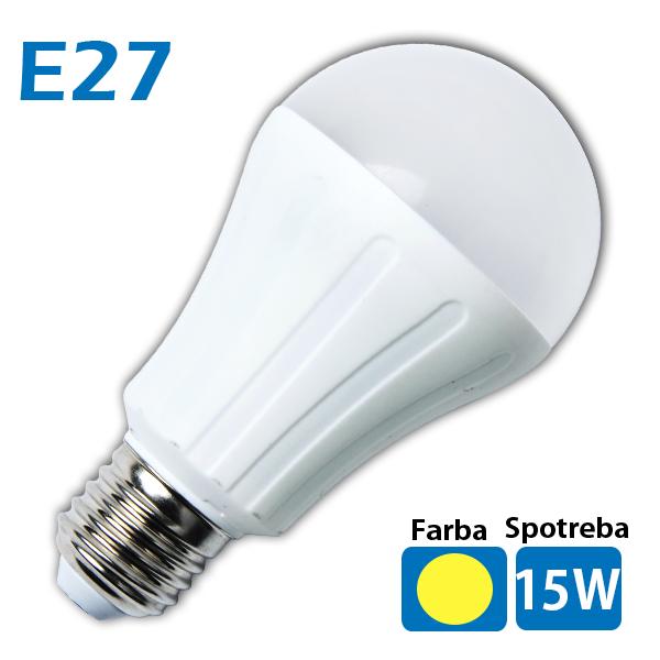 LED žiarovka 26x SMD 5050 E27 15W teplá