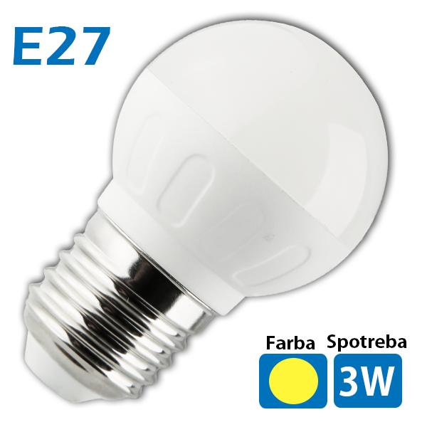 LED žiarovka 6x SMD 5630 E27 3W teplá