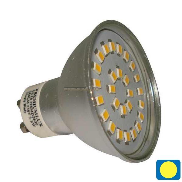 LED žiarovka 27 x SMD 2835 GU10 3,8W teplá