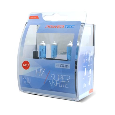 Powertec SuperWhite H7 bulb 12V DUO