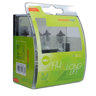 Powertec Long Life H4 bulb 12V DUO