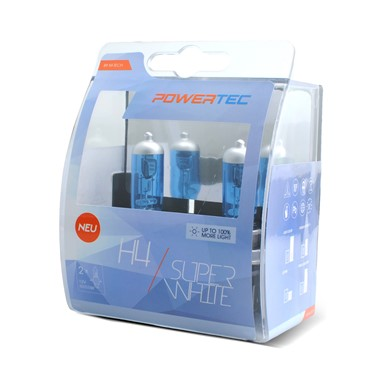 Powertec SuperWhite H4 bulb 12V DUO